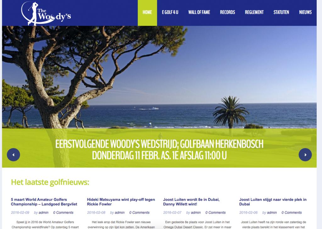 Website Golfclub The Woody's